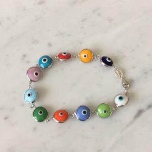 Jewelry - Sterling silver  1 evil eye bead bracelets